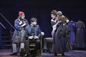 Jeff Skowron, James Barbour, Meeghan Holaway and Emilie LaFontaine (as young Cosette) in the LA MIRADA THEATRE FOR THE PERFORMING ARTS-McCOY RIGBY ENTERTAINMENT production of LES MISERABLES