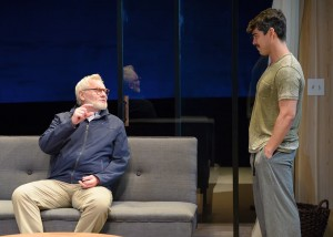 John Judd and Raúl Castillo in DEATH AND THE MAIDEN at Victory Gardens Theatre in Chicago