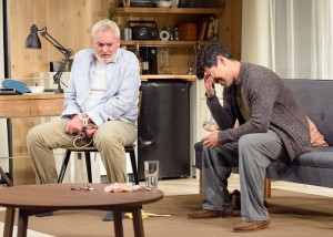 John Judd and Raúl Castillo in DEATH AND THE MAIDEN at Victory Gardens Theatre in Chicago.