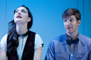 Jules Willcox and Brad Fleischer in Rajiv Joseph's GRUESOME PLAYGROUND INJURIES at Rogue Machine Theatre.