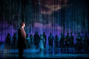 Kevin Earley (Tommy Albright) and the cast in BRIGADOON at the Goodman Theatre.