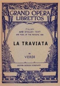 LA TRAVIATA - Grand Opera Librettos Cover
