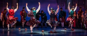 Malachi Squires (Ensemble), Rhett Guter (Harry Beaton), William Angulo (Ensemble) and Jamy Meek (Ensemble) in BRIGADOON at the Goodman Theatre.
