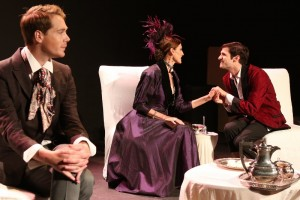 Mason McCulley, Nancy La Scala, Philip Orazio in THE IMPORTANCE OF BEING EARNEST.
