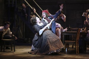 Meeghan Holaway and Jeff Skowron in the LA MIRADA THEATRE FOR THE PERFORMING ARTS-McCOY RIGBY ENTERTAINMENT production of LES MISERABLES