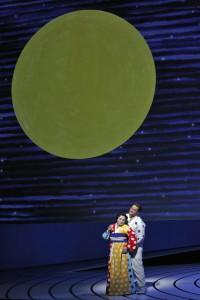 Patricia Racette (Cio-Cio-San) and Brian Jagde (Pinkerton) in SF Opera's MADAMA BUTTERFLY.