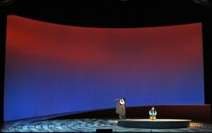 Patricia Racette (Cio-Cio-San) and Elizabeth DeShong (Suzuki) in Act II of SF Opera's MADAMA BUTTERFLY.