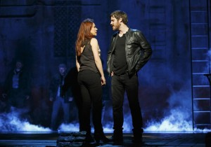Rachel Tucker and Michael Esper in THE LAST SHIP, pre-Broadway in Chicago. Photo by Joan Marcus