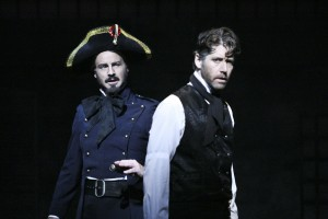 Randall Dodge and James Barbour in the LA MIRADA THEATRE FOR THE PERFORMING ARTS-McCOY RIGBY ENTERTAINMENT production of LES MISERABLES