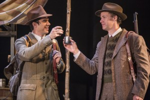 Rod Thomas (Jeff Douglas) and Kevin Earley (Tommy Albright) in BRIGADOON at the Goodman Theatre.