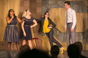 "(L-R) Punam Patel, Carisa Barreca, Brooke Breit and Tim Ryder in The Second City Etc's performance of ""Apes of Wrath"""