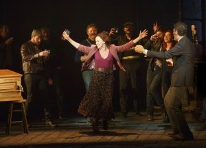 Sally Ann Triplett and the cast of THE LAST SHIP, pre-Broadway in Chicago. Photo by Joan Marcus