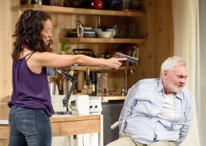 Sandra Oh and John Judd in DEATH AND THE MAIDEN at Victory Gardens Theatre in Chicago