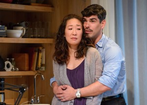 Sandra Oh and Raúl Castillo in DEATH AND THE MAIDEN at Victory Gardens Theatre in Chicago