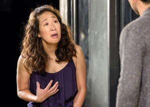 Sandra Oh and Raúl Castillo in DEATH AND THE MAIDEN at Victory Gardens Theatre in Chicago.