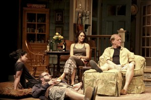 Sarah Steele, Eric Lange, Emily Swallow and David Rasche in THE COUNTRY HOUSE