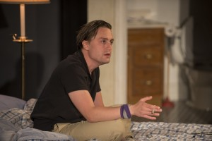 Dennis (Kieran Culkin) in Steppenwolf Theatre Company's production of This Is Our Youth by Kenneth Lonergan.