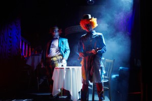 Amir Wachterman and Willy Appelman in CLOWN BAR.