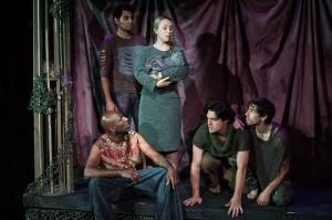 Anthony Mark Barrow (seated), Nardeep Khurmi, Kaitlyn Gault, Christopher Salazar, Zach Kanner.