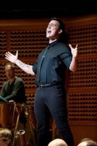 Cheyenne Jackson in rehearsal for WEST SIDE STORY with SF Symphony