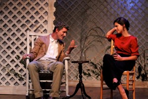 Conor Woods and Kate Cornelius-Schecter in  TWAIN'S WORLD - First Floor Theater.