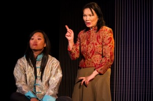 Dana Lau & Dana Byrne in JADE HEART at Moxie Theatre. Photo by Daren Scott.