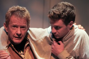 Darrell Larson and Timothy Walker in PATERNUS at Rogue Machine Theatre