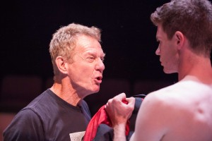 Darrell Larson and Timothy Walker in PATERNUS at Rogue Machine Theatre.