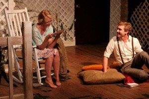 Hannah Alcorn and Chris Fowler in  TWAIN'S WORLD - First Floor Theater.