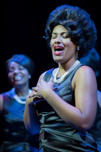 Alanna Taylor as Wanda in the World Premiere of THE MARVELOUS MARVELETTES at Black Ensemble Theater.