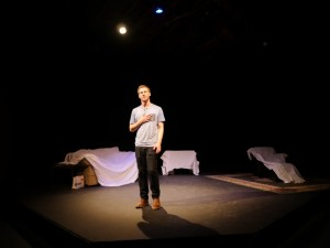 Joey Livingston in THE PROTAGONIST at Lillian Theatre.