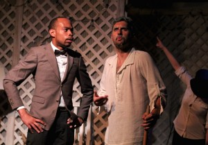Johnard Washington and Jay Cullen in  TWAIN'S WORLD - First Floor Theater.