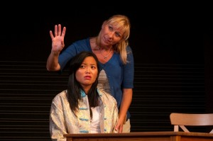 Julie Sachs & Dana Lau in JADE HEART at Moxie Theatre. Photo by Daren Scott.