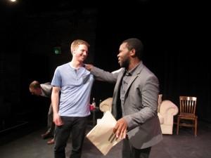 Keenan Jolliff, Joey Livingston, Christian Roberts in THE PROTAGONIST at Lillian Theatre.