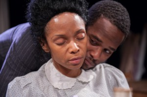 Kelly Owens and Brandon Greenhouse in Lynn Nottage's INTIMATE APPAREL by Eclipse Theatre in Chicago.