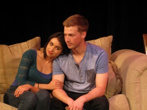 Libe Barer, Joey Livingston in THE PROTAGONIST at Lillian Theatre.