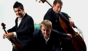 TIME FOR THREE-Zach De Pue (violin), Nick Kendall (violin), and Ranaan Meyer (double bass)