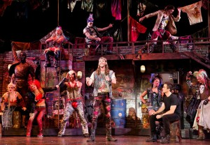 The cast of the national tour of Queen and Ben Elton?s ?We Will Rock You,? which will play at the Center Theatre Group/Ahmanson Theatre, July 15 through August 24, 2014. ?We Will Rock You? features music supervised by Queen?s Brian May and Roger Taylor.
