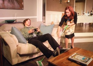 Aidan Blain (as Mose) and Stacey Moseley (as Christina) in THE FACE IN THE REEDS.