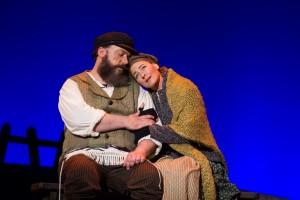 Alex Honzen (Tevye) and Jenny Lamb (Golde) in Light Opera Works' FIDDLER ON THE ROOF.