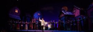 Alex Honzen (Tevye) and cast in Light Opera Works' FIDDLER ON THE ROOF.