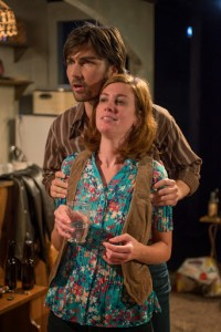 Boyd Harris as Mick and Maura Kidwell as Jean in Mike Leigh's ECSTASY by Cole Theatre. Photo by Michael Brosislow