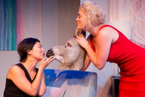 Cleo Gray & Lauren Dortch-Crozier in DONKEY PUNCH at SoHo Playhouse - photo by Hunter Canning.