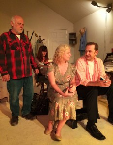 Craig Fleming, Sarah Rosenberg, Inga Wilson and Rick Steadman in THE LIFE AND SORT OF DEATH OF ERIC ARGYLE at Son of Semele.