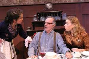 Gina Hecht, Allan Miller and Betsy Zajko in BROADWAY BOUND at the Odyssey Theatre - photo by Enci..