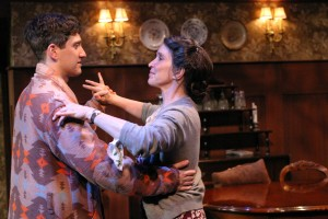 Ian Alda and Gina Hecht in BROADWAY BOUND at the Odyssey Theatre - photo by Enci..