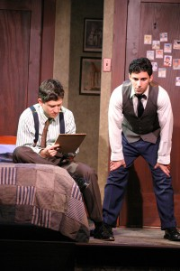 Ian Alda and Noah James in BROADWAY BOUND at the Odyssey Theatre - photo credit Enci.