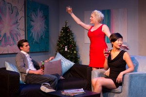 Jon McCormick, Lauren Dortch-Crozier  & Cleo Gray in DONKEY PUNCH at SoHo Playhouse - photo by Hunter Canning.