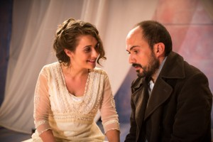 Kelsey Ritter and Kyle Johnston in Pacific Resident Theatre's THE CHERRY ORCHARD.