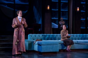 (L-R) Derek Hasenstab, Wendy Robie in THE GAME'S AFOOT at Drury Lane.